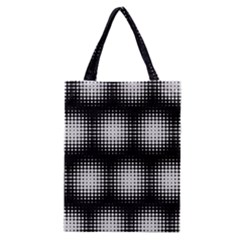 Black And White Modern Wallpaper Classic Tote Bag by Simbadda