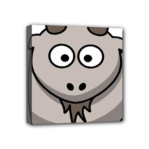 Goat Sheep Animals Baby Head Small Kid Girl Faces Face Mini Canvas 4  X 4  by Alisyart