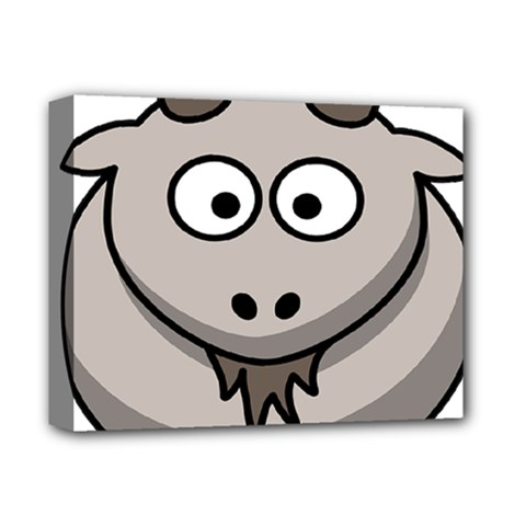 Goat Sheep Animals Baby Head Small Kid Girl Faces Face Deluxe Canvas 14  X 11  by Alisyart