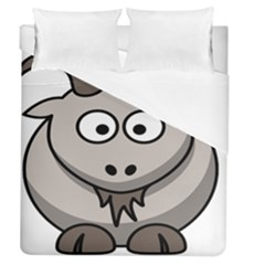 Goat Sheep Animals Baby Head Small Kid Girl Faces Face Duvet Cover (queen Size) by Alisyart