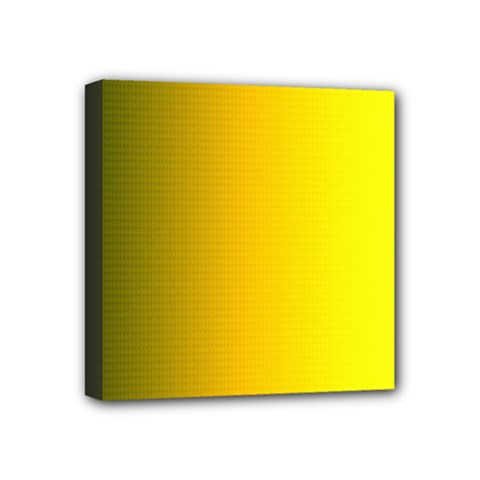 Yellow Gradient Background Mini Canvas 4  X 4  by Simbadda