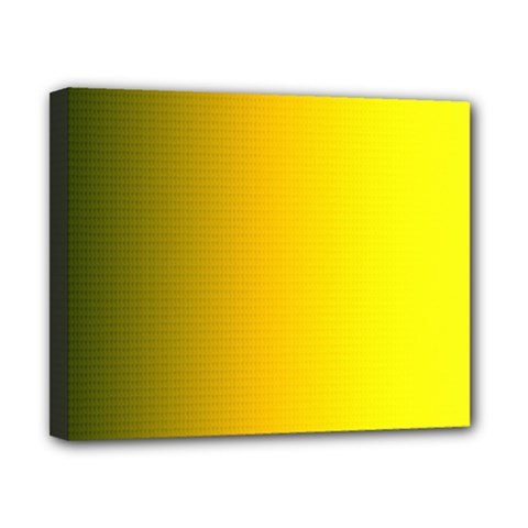 Yellow Gradient Background Canvas 10  X 8  by Simbadda