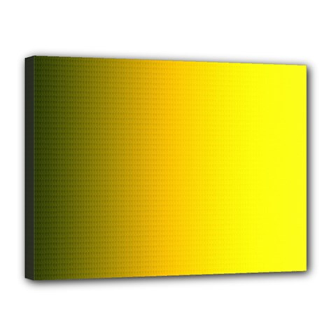 Yellow Gradient Background Canvas 16  X 12  by Simbadda
