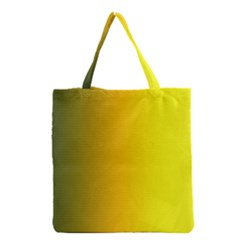 Yellow Gradient Background Grocery Tote Bag by Simbadda