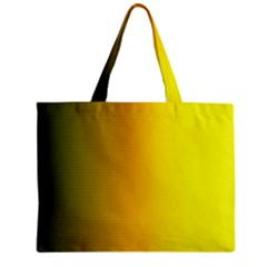 Yellow Gradient Background Zipper Mini Tote Bag by Simbadda