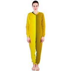 Yellow Gradient Background Onepiece Jumpsuit (ladies)