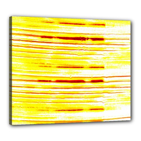 Yellow Curves Background Canvas 24  X 20  by Simbadda