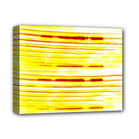 Yellow Curves Background Deluxe Canvas 14  X 11  by Simbadda