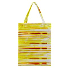 Yellow Curves Background Classic Tote Bag by Simbadda