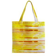 Yellow Curves Background Zipper Grocery Tote Bag by Simbadda