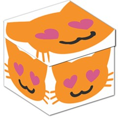 Smile Face Cat Orange Heart Love Emoji Storage Stool 12   by Alisyart