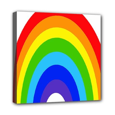 Rainbow Mini Canvas 8  X 8  by Alisyart