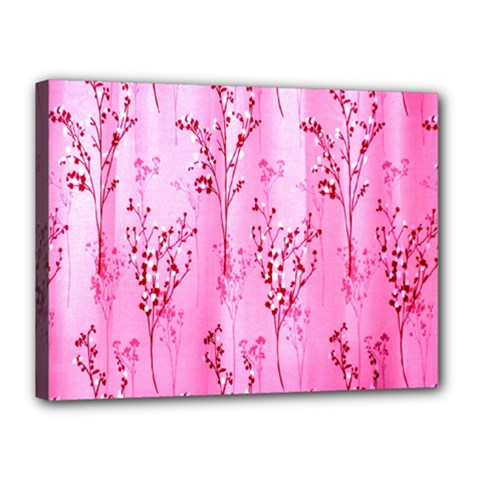 Pink Curtains Background Canvas 16  X 12  by Simbadda