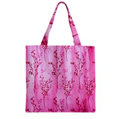 Pink Curtains Background Zipper Grocery Tote Bag