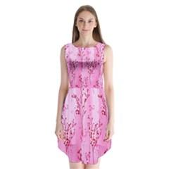 Pink Curtains Background Sleeveless Chiffon Dress