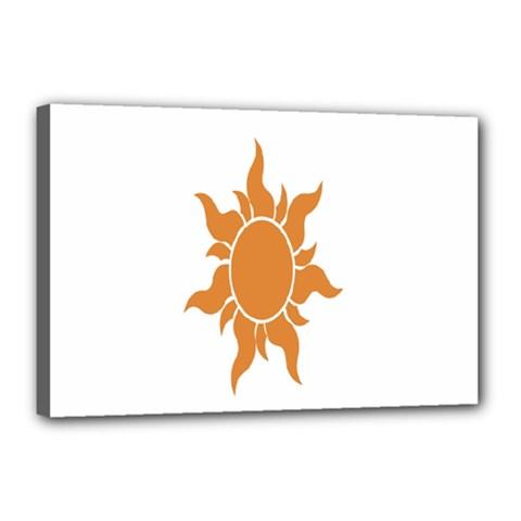 Sunlight Sun Orange Canvas 18  X 12  by Alisyart