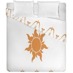 Sunlight Sun Orange Duvet Cover Double Side (california King Size) by Alisyart