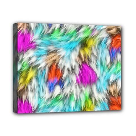 Fur Fabric Canvas 10  X 8  by Simbadda