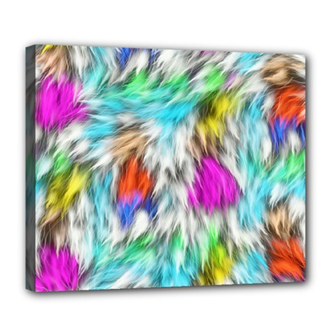Fur Fabric Deluxe Canvas 24  X 20   by Simbadda