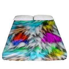 Fur Fabric Fitted Sheet (king Size) by Simbadda