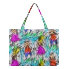Fur Fabric Medium Tote Bag by Simbadda