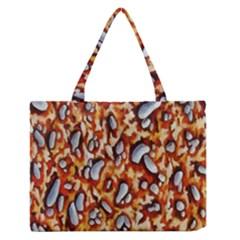Pebble Painting Medium Zipper Tote Bag by Simbadda