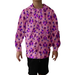 Mandala Tiling Hooded Wind Breaker (kids) by Simbadda
