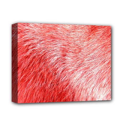 Pink Fur Background Deluxe Canvas 14  X 11  by Simbadda