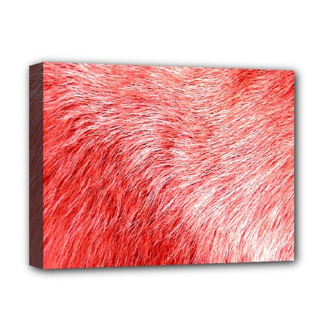 Pink Fur Background Deluxe Canvas 16  X 12   by Simbadda