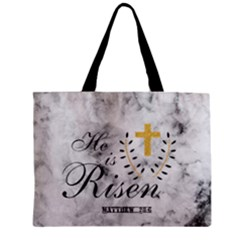 He Is Risen Marble Zipper Mini Tote Bag by makeunique