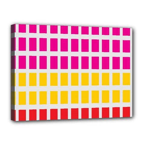Squares Pattern Background Colorful Squares Wallpaper Canvas 16  X 12  by Simbadda