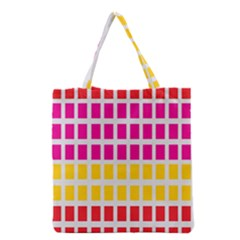 Squares Pattern Background Colorful Squares Wallpaper Grocery Tote Bag by Simbadda