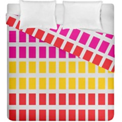 Squares Pattern Background Colorful Squares Wallpaper Duvet Cover Double Side (king Size) by Simbadda