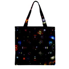 Geometric Line Art Background In Multi Colours Zipper Grocery Tote Bag by Simbadda
