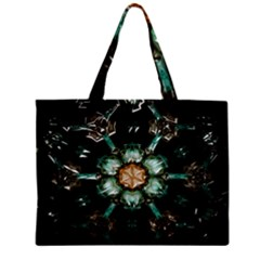 Kaleidoscope With Bits Of Colorful Translucent Glass In A Cylinder Filled With Mirrors Zipper Mini Tote Bag by Simbadda