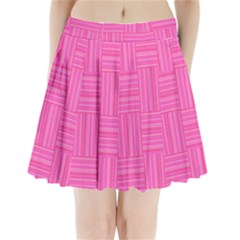 Pattern Pleated Mini Skirt