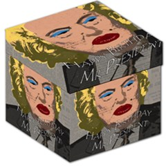 Happy Birthday Mr  President  Storage Stool 12   by Valentinaart