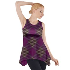 Pattern Side Drop Tank Tunic by Valentinaart