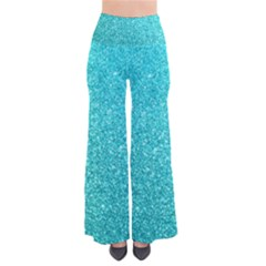 Tiffany Aqua Blue Glitter Pants by PodArtist