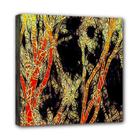Artistic Effect Fractal Forest Background Mini Canvas 8  X 8  by Simbadda