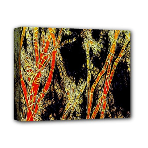 Artistic Effect Fractal Forest Background Deluxe Canvas 14  X 11  by Simbadda