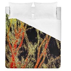 Artistic Effect Fractal Forest Background Duvet Cover (queen Size) by Simbadda