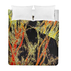 Artistic Effect Fractal Forest Background Duvet Cover Double Side (full/ Double Size) by Simbadda