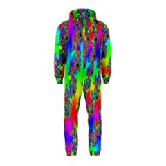 Digital Rainbow Fractal Hooded Jumpsuit (kids)