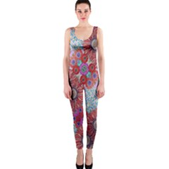 Floral Flower Wallpaper Created From Coloring Book Colorful Background Onepiece Catsuit