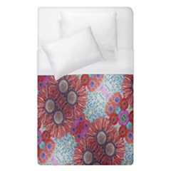 Floral Flower Wallpaper Created From Coloring Book Colorful Background Duvet Cover (single Size) by Simbadda