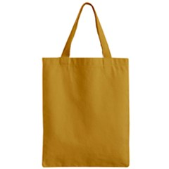 Designer Fall 2016 Color Trends-Spicy Mustard Yellow Zipper Classic Tote Bag by PodArtist