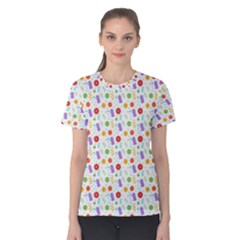 Decorative Spring Flower Pattern Women s Cotton Tee by TastefulDesigns
