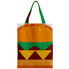 Hamburger Bread Food Cheese Zipper Classic Tote Bag by Simbadda