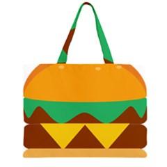 Hamburger Bread Food Cheese Zipper Large Tote Bag by Simbadda
